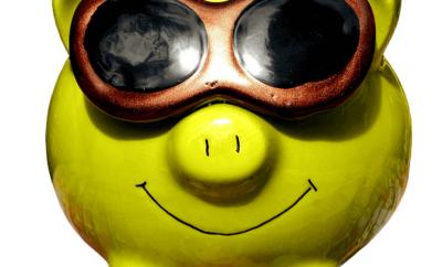 Supercool spargris i solglasögon
